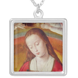 The Virgin Mary with her Crown Silver Plated Necklace