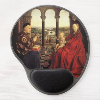 The Virgin of Chancellor Rolin by Jan van Eyck Gel Mouse Pad