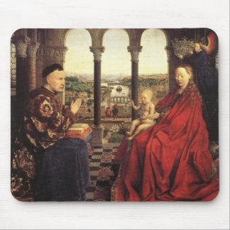 The Virgin of Chancellor Rolin by Jan van Eyck Mousepads