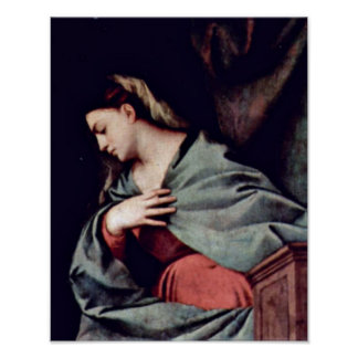 The Virgin of the Annunciation by Tiziano Vecelli Poster