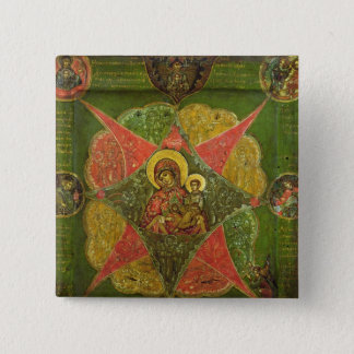 The Virgin of the Burning Bush, from Mount Athos 15 Cm Square Badge