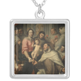 The Virgin of the Carmelites Silver Plated Necklace
