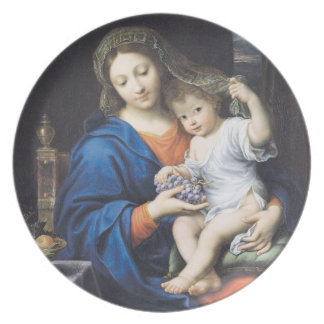 The Virgin of the Grapes, 1640-50 Dinner Plate