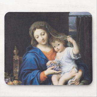 The Virgin of the Grapes, 1640-50 Mouse Mat