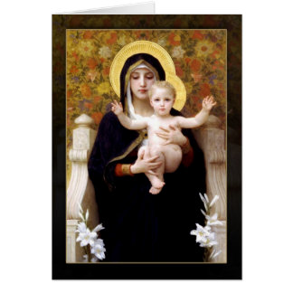 The Virgin of the Lilies by William Bouguereau Card