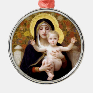 The Virgin of the Lilies Christmas ornament