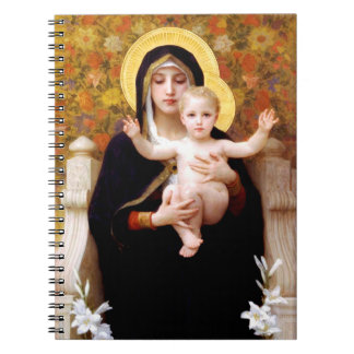 The Virgin of the Lilies  (La Vierge au Lys) Spiral Notebook