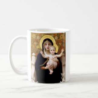 The Virgin of the Lillies Coffee Mug