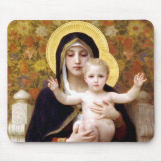 The Virgin of the Lillies Mouse Mat