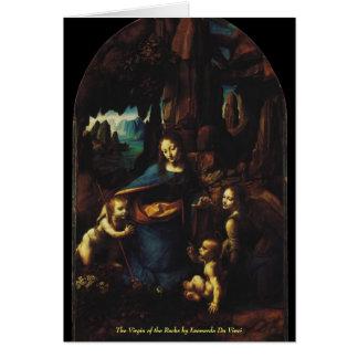 The Virgin of the Rocks by Leonardo da Vinci Card
