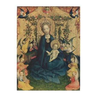 The Virgin of the Rose Bush Wood Wall Art