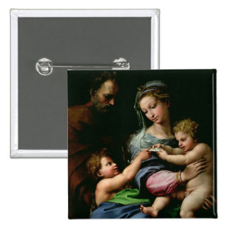 The Virgin of the Rose, c.1518 15 Cm Square Badge