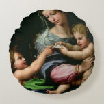 The Virgin of the Rose, c.1518 Round Pillow