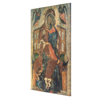 The Virgin of the Tolg, Yaroslavl School Canvas Print