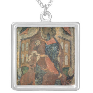 The Virgin of the Tolg, Yaroslavl School Silver Plated Necklace
