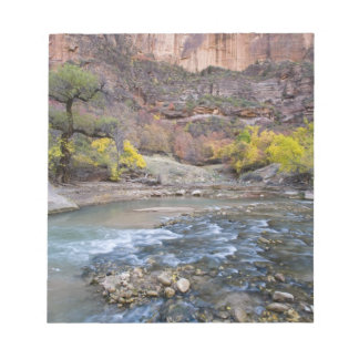 The Virgin River in autumn in Zion National Park Notepad