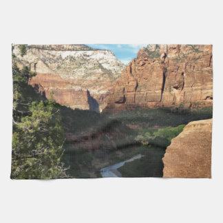 The Virgin River in Zion Canyon Tea Towel