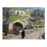 The Virgin Spring in Nazareth, 1882 Postcard