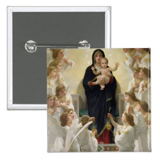 The Virgin with Angels, 1900 15 Cm Square Badge