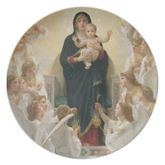 The Virgin with Angels, 1900 Dinner Plate