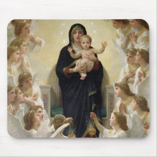 The Virgin with Angels, 1900 Mouse Pads