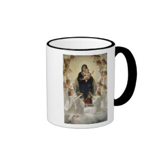 The Virgin with Angels, 1900 Ringer Mug