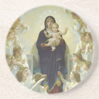 The Virgin With Angels Coaster