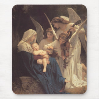 The Virgin With Angels Mouse Pad