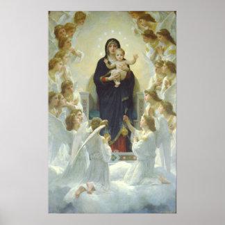 The Virgin With Angels, Regina Angelorum Poster