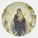 The Virgin With Angels Round Sticker