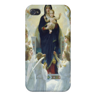 The Virgin With Angels, William Bouguereau iPhone 4 Cover