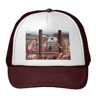 The Virgin With Chancellor Rolin Detail Español Mesh Hats