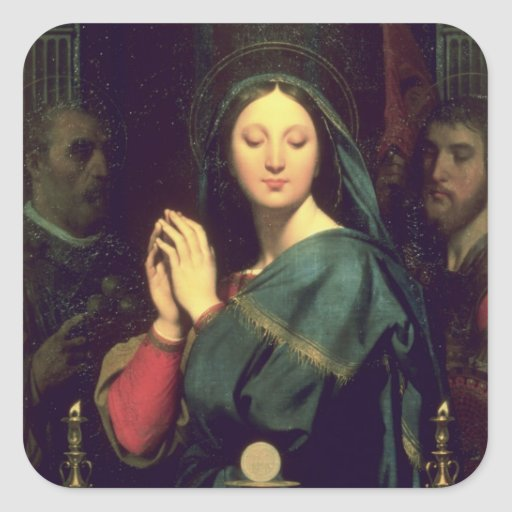 The Virgin with the Host, 1841 Square Sticker