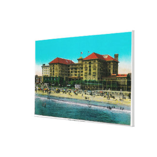 The Virginia Hotel, Long Beach, California Stretched Canvas Print