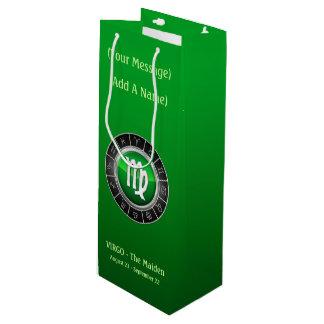 The Virgin's Horoscope Symbol Wine Gift Bag