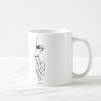 The Visage of Socrates Basic White Mug
