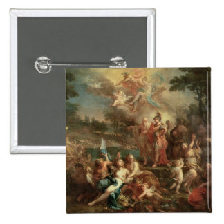 The Vision of Aeneas in the Elysian Fields 15 Cm Square Badge