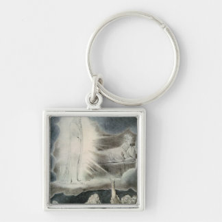 The Vision of Eliphaz, 1825 Silver-Colored Square Key Ring