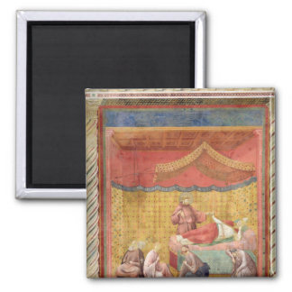 The Vision of Pope Gregory IX  1297-99 Square Magnet