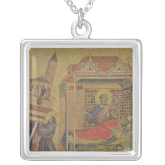 The Vision of Pope Innocent III, c.1295-1300 Silver Plated Necklace
