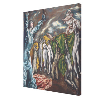 The Vision of Saint John Canvas Print