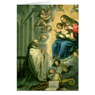 The Vision of St. Bernard, 1634 Card