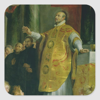 The Vision of St. Ignatius of Loyola Square Sticker