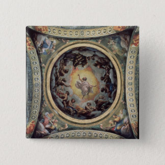 The Vision of St. John on Patmos, 1520-23 (fresco) 15 Cm Square Badge