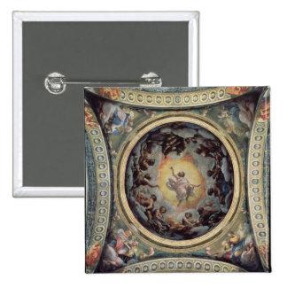The Vision of St. John on Patmos, 1520-23 (fresco) 15 Cm Square Badge