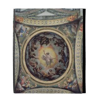 The Vision of St. John on Patmos, 1520-23 (fresco) iPad Case