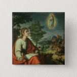 The Vision of St. John the Evangelist on Patmos 15 Cm Square Badge