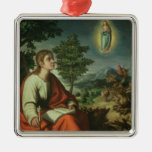 The Vision of St. John the Evangelist on Patmos Christmas Ornament