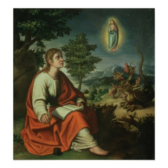 The Vision of St. John the Evangelist on Patmos Poster