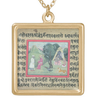The visit of a Rajput chief to a hermit from a pag Custom Jewelry